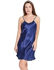 Aibrou Mujer Lencería Satén Lisa Ropa Interior Camisón Pijama Ropa de Dormir