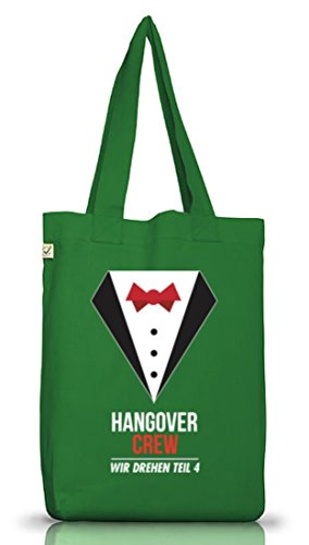 Addio Al Nubilato Jga Wedding Juta Bag Borsa Di Stoffa Terra Vestito Positivo Hangover Crew Muschio Verde