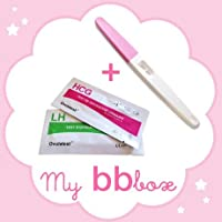 Pack My bb box: 24 tests d'ovulation, 8 tests grossesse précoces , 2 tests grossesse stylo