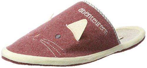 Adelheid Damen Abenteurerin Ohren Filzpantoffel Pantoffeln, Pink (Altrosa), 36/37 EU