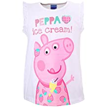 Niñas Peppa Pig Top, blanco