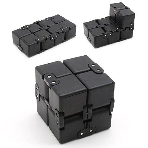 Infinity Cube 3 fidget infinity cube fidget Unendlicher Würfel hand spinner infinity cube metall EDC infinity cube 2 Fidget Cube spinner (Schwarz)