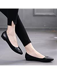 GAOLIM omelettes Femme Chaussures Light-paint, qui à chaussures à bout avec un fond plat de chaussures de chaussures de chaussures de femmes enceintes Volume Volume Volume, Noir, 37