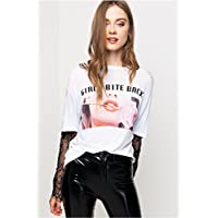Tally Weijl T-Shirt for Women - White & Black