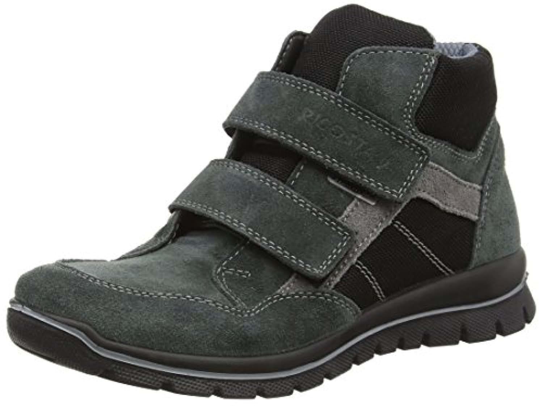 Ricosta Boys' Boysen Hi-Top Sneakers, Grey (Grigio/Schwarz 487), 2.5 UK 35 EU