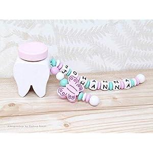 Milchzahndose Mädchen / Zahndose Rosa / Milchzahndose mit Namen