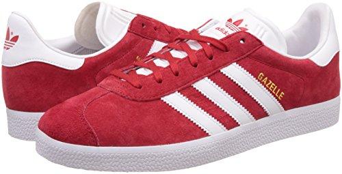 adidas Gazelle, Scarpe da Ginnastica Basse Uomo, Rosso (Scarlet/footwear  White/gold ...