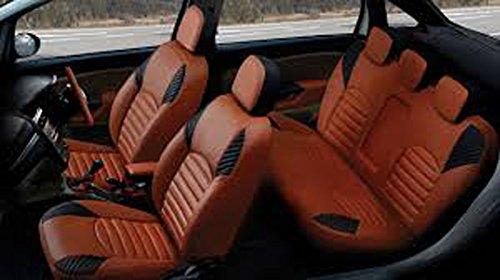 Manpreet Creations Mahindra KUV 100 Orange Leatherite Car Seat Cover