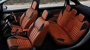 Antique Chevrolet Enjoy Orange Leatherite Car Seat Cover