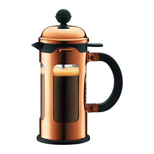 Bodum - 11170-18 - Chambord - Cafetière à Piston 3 Tasses - Bec Verseur - 0,35 L - Cuivre