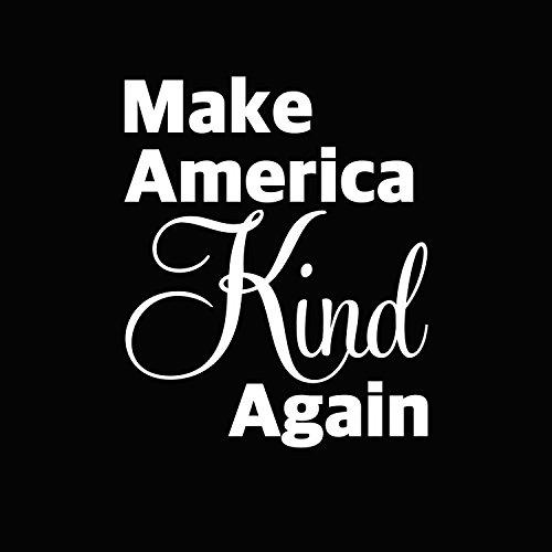 Vinyl-Aufkleber Make America Kind Again für Computer Wand Auto Mac MacBook und mehr, 13,2 x 10,8 cm weiß weiß 5.2