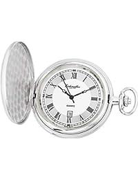 Orologio da tasca con coperchio a molla, con rivestimento in PVD, Ronda 515