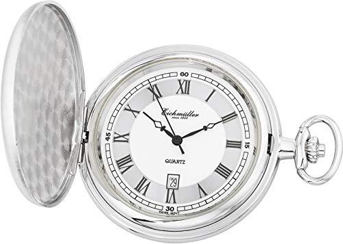 Taschenuhr mit Sprungdeckel, PVD-beschichtet, Ronda 515
