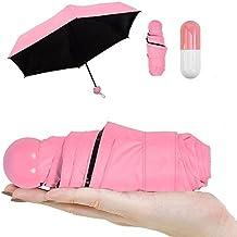 Pawaca Ultra Luces y Pequeñas Viajar Anti-UV Mini Plegable Paraguas con la Caja linda