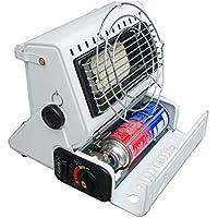 Estufa De Gas Portátil Calentador Para Invierno Hogar Camping Al Aire Libre Blanco