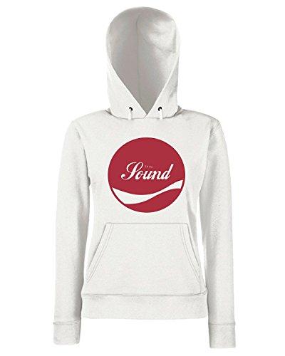 T-Shirtshock - Sweats a capuche Femme ENJOY0083 Enjoy Sound Blanc