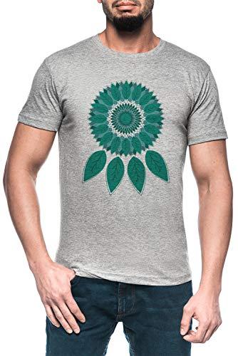 Atrapasueños Hombre Gris Camiseta Manga Corta Men's Grey T-Shirt