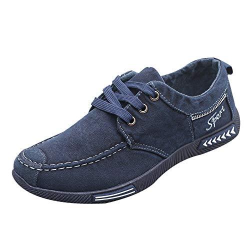 e Herren Mode Denim Canvas Schuhe Herren Casual Sportschuhe Low Top Schuhe Hallenschuhe Worker Boots Laufschuhe Sportschuhe Wanderschuhe Reitstiefel ()