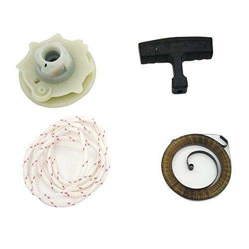 Cancanle Recoil Starter Seilrolle Hub Spring Seil Griff für Husqvarna 137142235236240Kettensäge