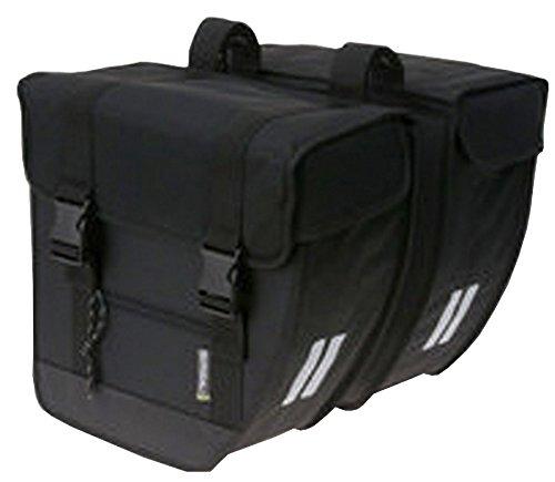 Basil Doppelpacktasche Tour XL Fahrradtasche, Black, 35 cm x 16 cm x 37 cm
