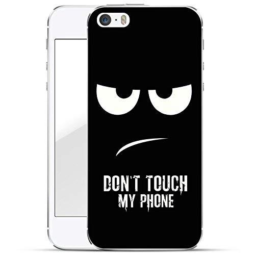 finoo | iPhone SE Hard Case Handy-Hülle mit Motiv | dünne stoßfeste Schutz-Cover Tasche in Premium Qualität | Premium Case für Dein Smartphone| Don't Touch My Phone Touch Mobile Handy
