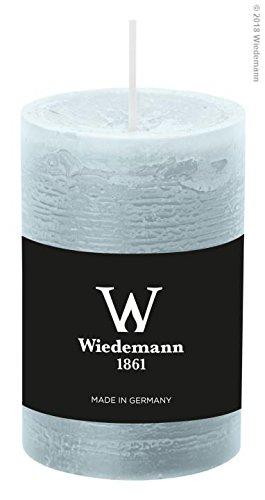 Wiedemann 8X Marble Kerze durchgefärbt ASF 90/58mm (Eisblau)