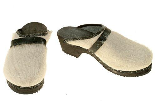 Nero Suola Weiss Colore intasamento Pelle Il Con Scarpe In Berlin Bianco wCq8Af