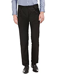 Arrow Men's Pleat-Front Poly Viscose Formal Trousers