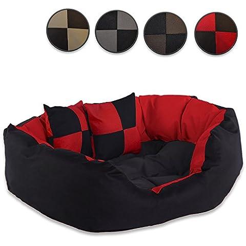 Cama para perro Cálido cesta cushio almohada cama resistente impermeable con diseño de gato
