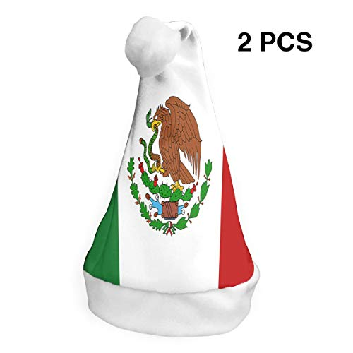 rouxf Weihnachtsmützen mexikanische Flagge Weihnachten weihnachtsmütze Cap Party Cap für Holiday Party (2 (Custom Made Pirate Kostüm)