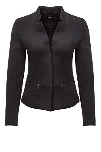 ONLY Damen Sweat Blazer Anzugjacke Leichte Jacke Businessjacke (M, Black/Solid)