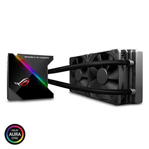 ASUS ROG Ryujin 240 RGB AIO Liquid CPU Kühler 240 mm Kühler (Dual 120 mm 4-Pin Noctua iPPC PWM Lüfter) mit LIVEDASH OLED Panel und FanXpert Controls -