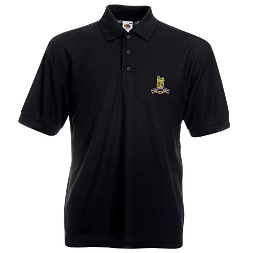 Royal Army Pay Corps bestickt Polo Schwarz