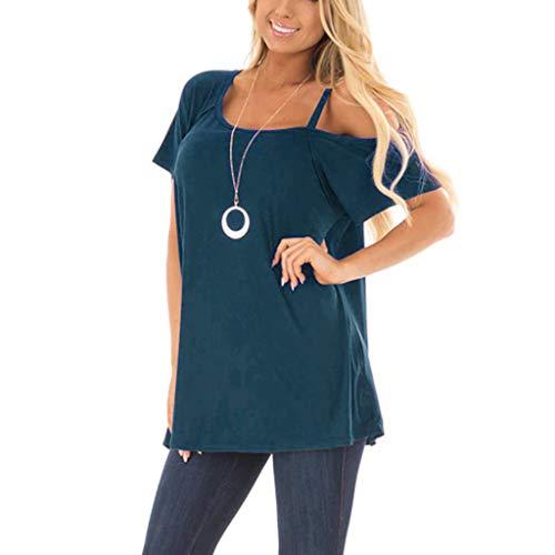 BHYDRY Frauen Solide Kurzarm Kausale Tunika Bluse Tops T-Shirt