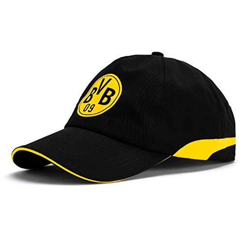 Puma BVB Training Cap Kappe, Black-Cyber Yellow, OSFA