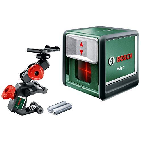 Bosch Kreuzlinienlaser Quigo (3. Generation, Reichweite: 10 m, in Box, Rot Laser )