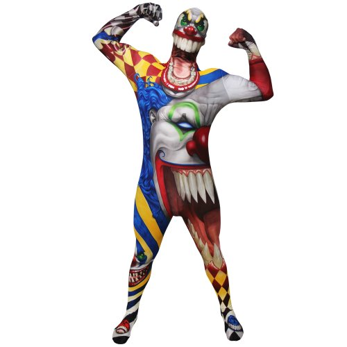 Clown Morphsuit Verkleidung, Kostüm Large - 5'5-5'9 -