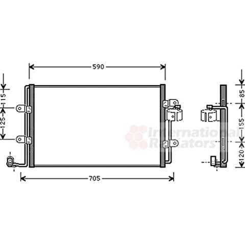 Van Wezel 58005176–Condensatore, impianto aria condizionata