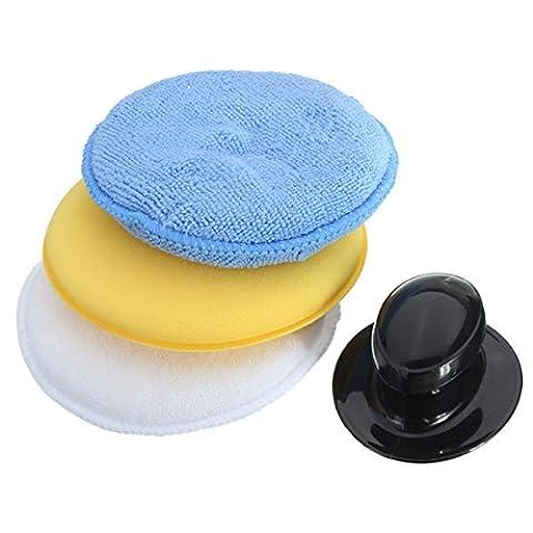 Chenxi Shop en microfibre mousse éponge polonaise Wax Applicateur avec ensemble de poignée