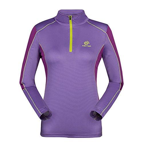 Hankyky Damen Hooded Sweatshirt Workout 1/4 Zip Langarm Sportbekleidung Pullover Hoodie für Lauftraining Ausbildung Fitness (Langarm-ausbildung Leichtes)