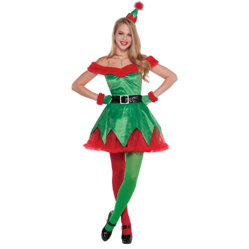 Kostüm Santa Little - Christy's Santas Little Helper Damen Fancy Kleid Elf Festive Damen Erwachsene Kostüm