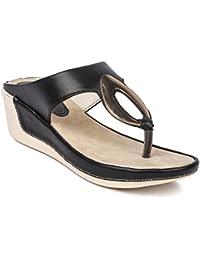 PROAEROLITE Women's & Girls New Stylish Sandal & Slippers Fancy Party Wear And Casual Wear Trendy Light Weight...