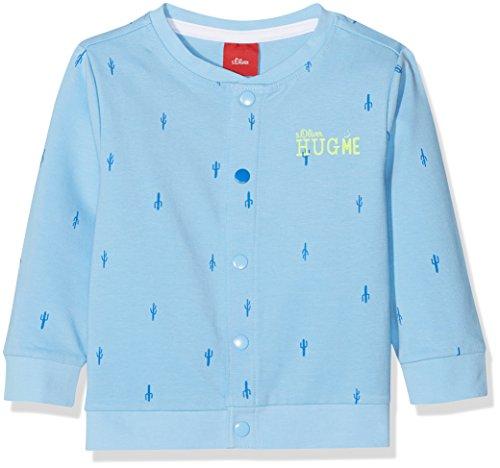 s.Oliver Baby-Jungen 59.806.43.4933 Sweatjacke, Blau (Blue AOP 53a3), 86