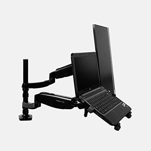 Thingy Club Funktionelle verstellbar Gelenkige Drehgelenk Computer Monitor Arm Desktop Mount Ständer Workstation Halterung schwarz schwarz Laptop & Monitor -