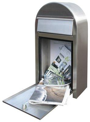Bobi Grande S Briefkasten Edelstahl (V2A) Wandbriefkasten