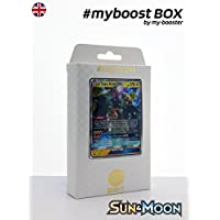 Box #myboost TAPU KOKO GX SM33 10 english pokemon trading cards XY including : - the card TAPU KOKO GX SM33 170HP of the series Sun and Moon - 1 holographic card or Reverse - 1 card 100HP - 1 card 90HP - 1 card 80HP my-booster, the PREMIUM offer Pokemon