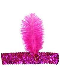 leayao lentejuelas show Girl Party tocado de charlestón con pluma