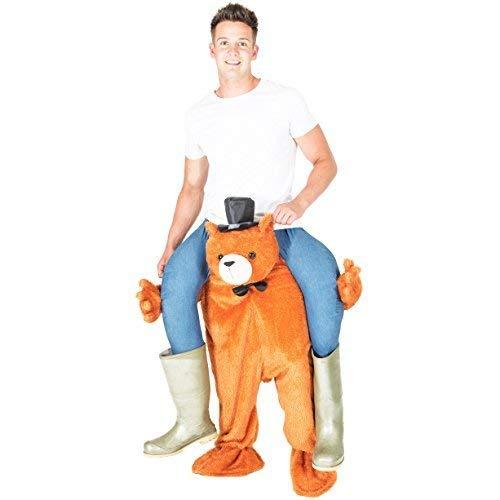 Bodysocks® Bären Huckepack (Carry Me) Kostüm für Erwachsene (Mann In Bären Kostüm)