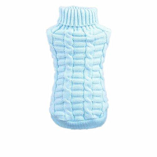 Culater® moda cane vestiti invernali tridimensionale maglione cucciolo vestiti di lana (s, cielo blu)