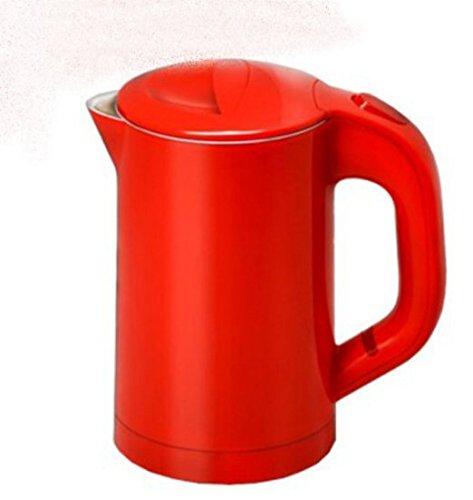 Travel Mini Tragbar Wasser Heizungen, Edelstahl Wasserkocher Tasse Small Form Erhaltung Double Layer anti-ironing rot (Tragbare Mini-wasser-heizung)
